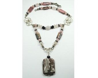 Red Jasper Sterling Silver Necklace