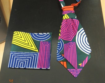 African print Scrunchy Cravat and Hanky Set