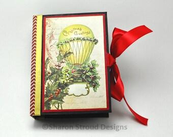 Vintage Christmas 5x7 Mini Scrapbook Album