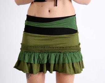 Festival Funky, Pixie Skirt. gypsy skirt,psy trance clothing, boho skirt,