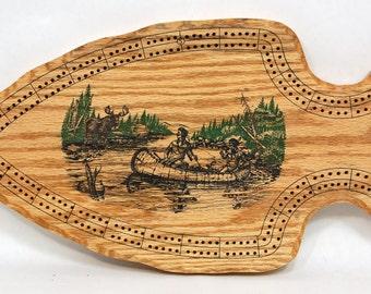 Native American Cribbage Board