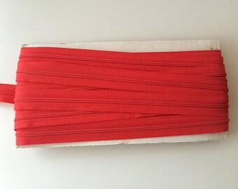 10 yards RED YKK Nylon Zipper chain 45CF 5/8 inch