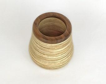 Walnut and Ply Vase