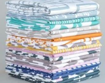 Glimma by Lotta Jansdotter quilting fabric Full FQ set