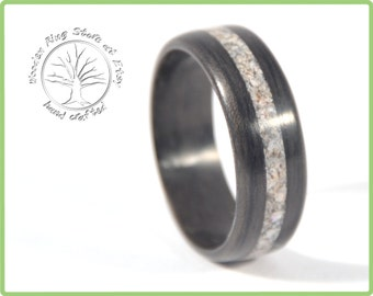 wooden engagement ring bentwood ring dark wood ring wood ring inlay wooden - Wood Wedding Ring