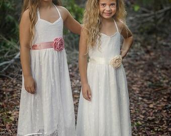 Nina Maxi Flowergirl Dress Bridal Flower Girl Communion Wedding Princess Bridal Bridesmaid Dress Maid-of-Honour Dress