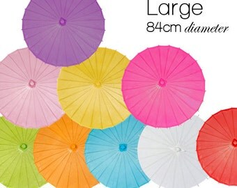 Large 84cm - Color Paper Parasols / Paper Umbrella - DIY Wedding Accesories, Party Decor, Bridal, Baby Shower, Handicraft, Props