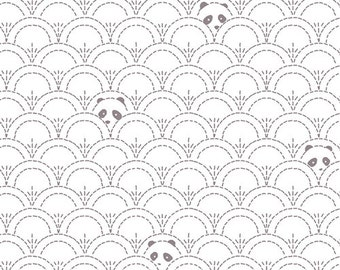 Hidden Panda Cottonbud in KNIT, Pandalicious Collection by Katarina Roccella for Art Gallery Fabrics 6129