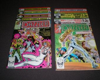 Dazzler 2, 3, 4, 5, 9, 11, 16, (1981-1982), Marvel Comics  C05
