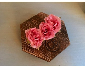 Pink Rose Hair Clip, Pink Rose Barrette