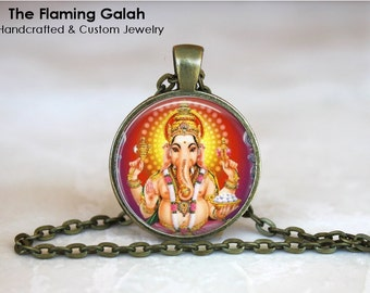 GANESH Pendant • Hindu God of Good Fortune • God of Beginnings • God of Prosperity • Gift Under 20 • Made in Australia (P0687)