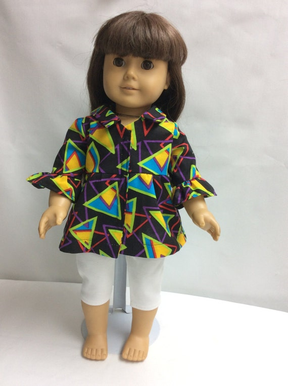 """18"""" Doll Outfit with capris and top fits American Girl Doll"""