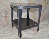 Industrial End Table Natural Steel Finish