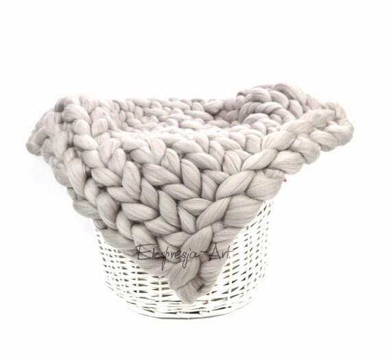 Diy 1kg 22ib lana de merino para tejer mantas grandes grueso - Tejer mantas de lana ...