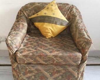 Black & yellow polka dots pillow