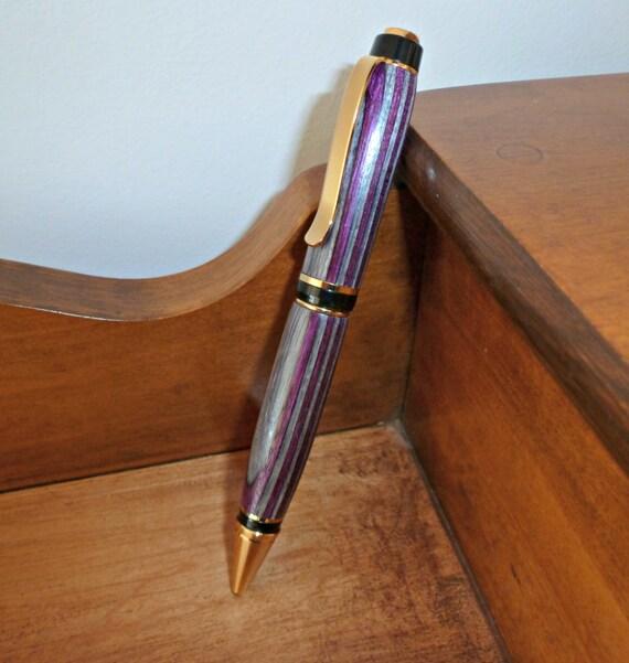 Hand Turned Wood Cigar Pen Purple Wood Pen Pink Wood Pen Desk