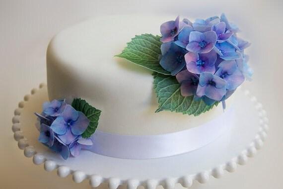 Cake Decorating Hydrangea Flowers : edible wafer paper flowers cake decorations hydrangea cake