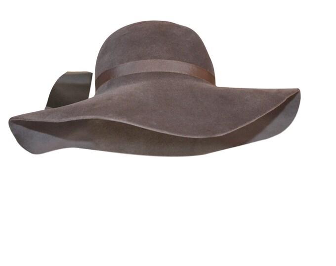 Vintage Estate Bernard Workman Debutante Julius Garfinckel & Co Grey Velour de Soie Hat