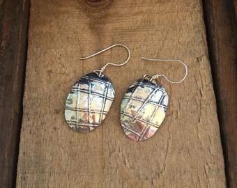 Form Folded Oval Earrings