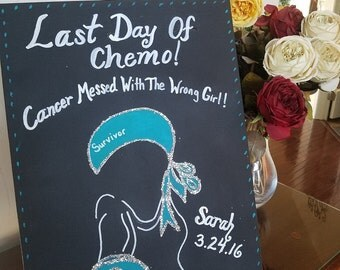 Last day of chemo poster lymphoma cancer by forevercraftaccents