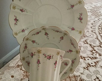 Blairs China rosebud Trio