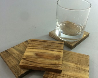 Dark Tung Oiled Pine Thick Coasters