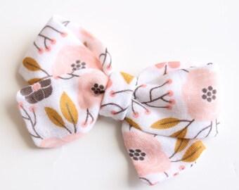 Blush Summer Floral elizabeth bow