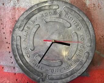 Vintage film tin clock 26cm