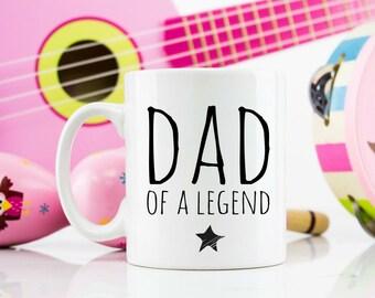 Dad of a legend mug funny birthday christmas birthday gift 11oz
