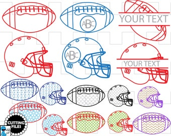 American Football - Cutting files SVG, DXF,EPS, Vinyl cut, Design files, Instant Download, Personal and Commercial use (00016c)