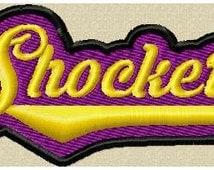 Machine Embroidery Design - Team Name Shockers - School Mascot