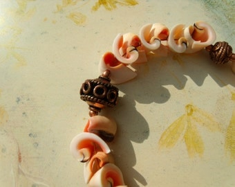 Natural beads, copper of Beads Bracelet screw beads spiral cone fencer worm beads