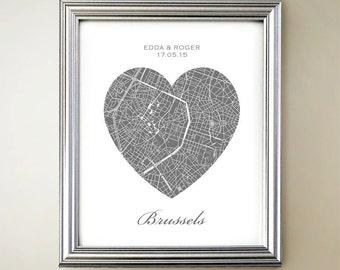 Brussels Heart Map