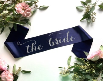 The Bride Sash, Bachelorette Sash, Bride to be Sash, Bride Gift, Bachelorette Party Accessory