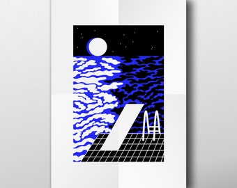Night visions No 3. Illustration. Giclee print on archival paper.