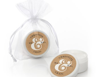 12 Better Together Lip Balm Party Favors -  Wedding Party Supplies - 12 Count