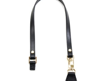 """20"""" byhands Genuine Leather Purse Handle/Bag Strap with Gold Style Ring & Leather Tab (32-5235)"""