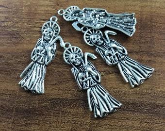 10pcs 18*51mm Antique Silver Skull Pendants,  Gothic Skull Charms , Sugar Skull Charms