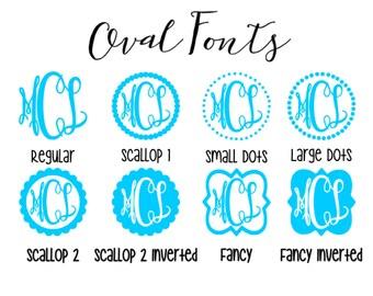 Oval Monogram Decal