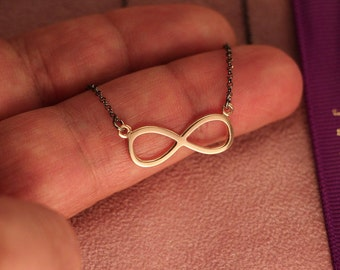 Infinity sterling silver pendant
