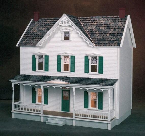 dollhouse kit unfinished vermont farmhouse dollhouse kit