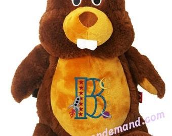 Personalized Stuffed Beaver