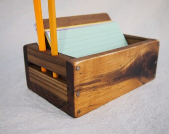 reclaimed Wood Rustic-Inspired 3x5 Index Card Note Holder