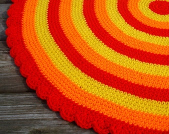 Rug Crochet Rug Area Rug Crochet Floor Round Rug Crochet Round Area Rug Hand Crocheted Rug crochet floor rug crochet rugs area rug crochet