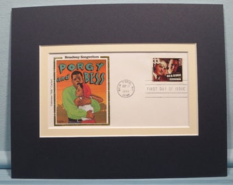 Broadway Musical - Porgy and Bess and First Day Cover for the Ira & George Gershwin stamp