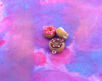 Kawaii mini donut clay charm