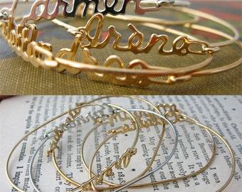 Vintage Name Bracelets