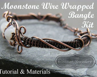 Wire wrapped jewellery tutorial ~ Jewellery making kit ~ Wire wrapping ~ Wire wrap ~ Handmade jewellery, DIY kit ~ Gift for crafty mom ~