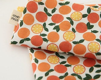 Oranges Pattern Digital Printing Cotton Fabric by Yard