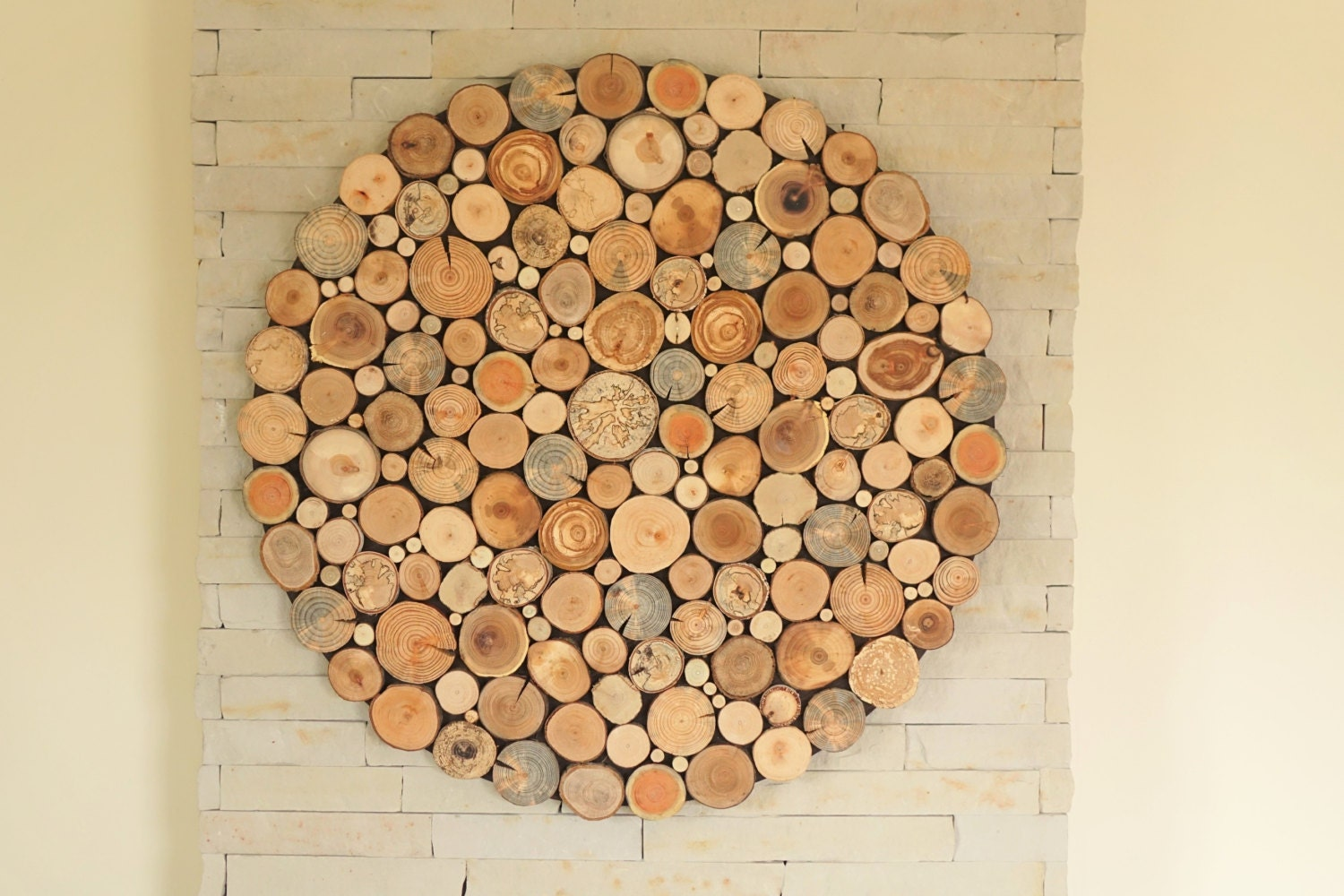 Modern Wall Wood Art Round Wooden Wall Wooden By